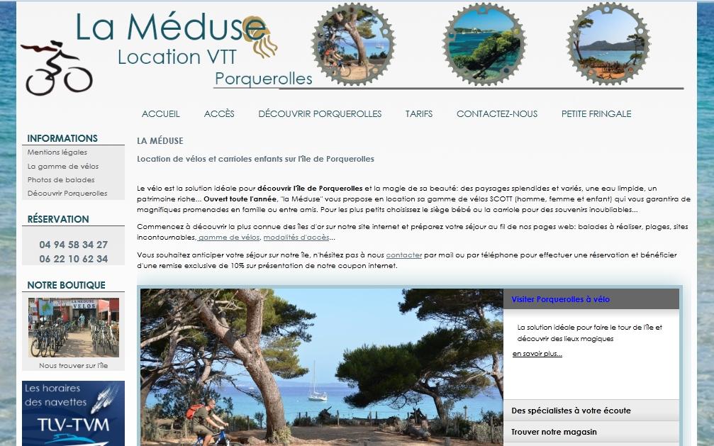 la-meduse-location de vélos Porquerolles