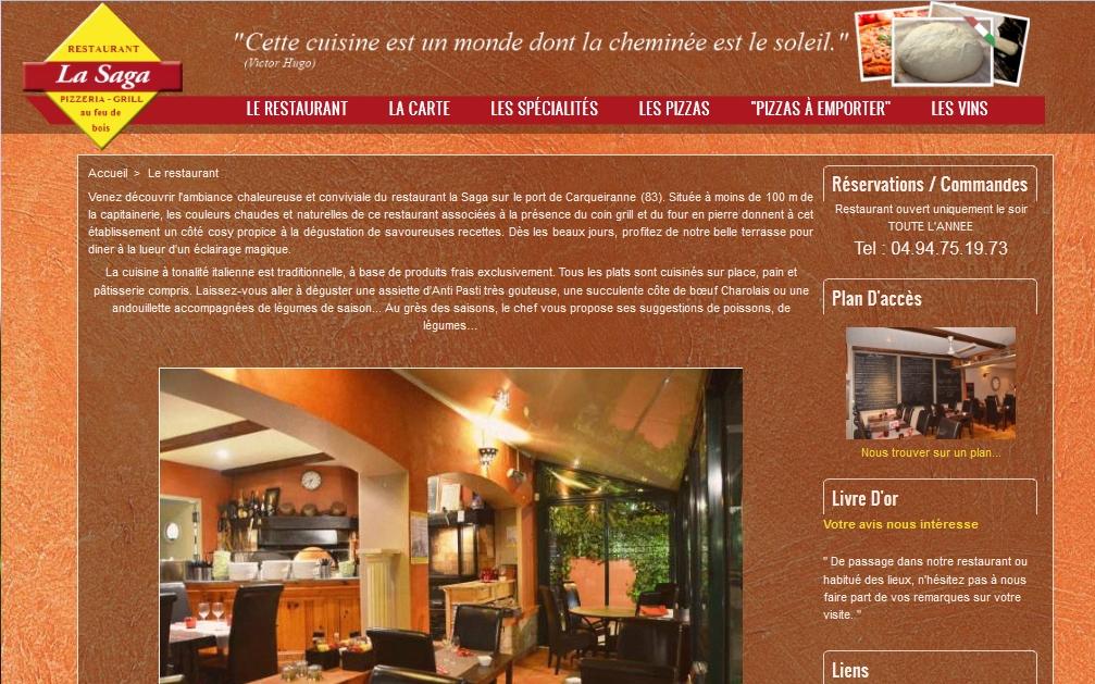 la-saga restaurant grill pizzeria Carqueiranne