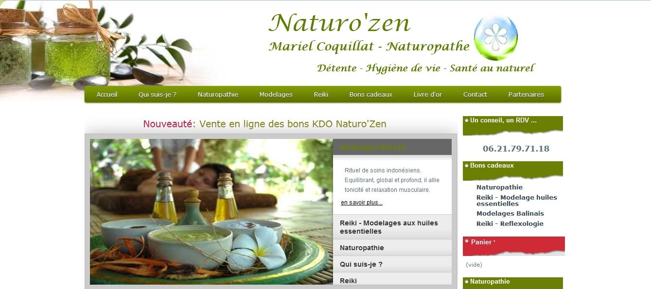 Site vitrine de Mariel Coquillat: naturopathe, maître Reiki à Carqueiranne