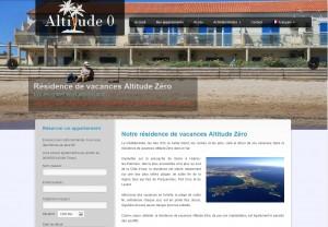 Site internet vitrine de la résidence de vacances Altitude Zéro Giens Hyères